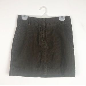 Vineyard Vines Corduroy Brown Mini Skirt. Size 2